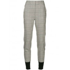 3.1 Phillip Lim Check Print Tapered Trousers BL015 Spandex/Elastane 3% Women's Tapered Trousers 13076095 TMANAYY