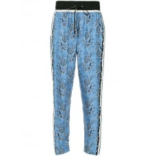 3.1 Phillip Lim Floral print Trousers SKY BLUE-NAVY Silk 100% Women's Tapered Trousers 13385152 HOPPEZZ