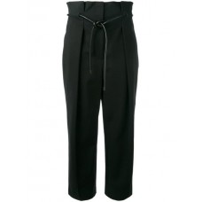 3.1 Phillip Lim Origami Pleat Trousers BLACK Cotton 53% Women's Tapered Trousers 11821832 JKSRUYX