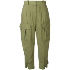 3.1 Phillip Lim Utility Cargo Trousers OLIVE Cotton 100% Women's Tapered Trousers 13363240 UUJPJRH