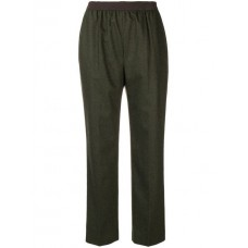 Agnona Pull on Tapered Trousers 960 MILITARY GREEN Wool 90% Women's Tapered Trousers 13064558 VYKCJEY