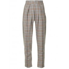 Anouki Check Tapered Trousers MULTICOLOR Wool 25% Women's Tapered Trousers 13158478 ILICKCV