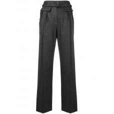A.P.C. Tapered Trousers Gris Chine Wool 98% Women's Tapered Trousers 13440144 VWJOBIN