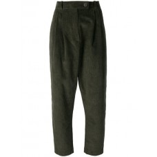 A.W.A.K.E. Baggy Corduroy Trousers VERDE Cotton 100% Women's Tapered Trousers 13346691 BZJXNXH