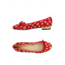 CHARLOTTE OLYMPIA Ballet flats Textile fibres Red Women's Ballet Shoes Product code: 11487504WG VLQIHOI