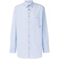 Études Striped Shirt LIGHT BLUE Cotton 100% Men's Striped Shirts 12873784 AEPBNPU