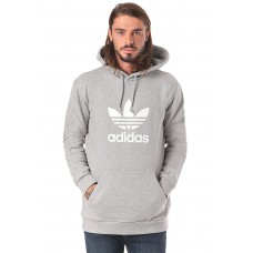ADIDAS Trefoil - Hooded Sweatshirt for Men - Grey 100% Cotton 50847800 F1LYAB9i