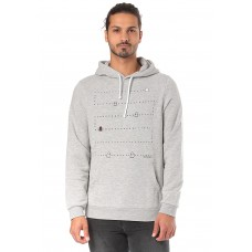 ARMEDANGELS Larry Pixel Monster - Hooded Sweatshirt for Men - Grey 65% Cotton 35% Polyester 50870000 ThiMrSYf