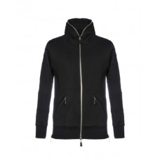 AMAL GUESSOUS Hooded track jacket 65% Cotton 35% Polyester Black Men's Hooded Jackets Product code: 12220637BF AIMQMBS