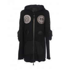 BAD SPIRIT Hooded track jacket 100% Cotton Black Men's Hooded Jackets Product code: 12201912HE OZZWIXL
