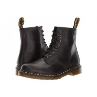 Dr. Martens 1460 8-Eye Boot Gunmetal Orleans/Black Pu Men's Lace Up Boots 8178117 ZALFELV