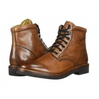 Frye Gordon Lace-Up Cognac Hammered Dip-Dye Leather Men's Lace Up Boots 9061659 ISLGHNF