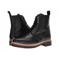 Grenson Fred Commando Sole Boot Black Calf Men's Lace Up Boots 9145482 IHFBBIB
