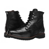 Massimo Matteo Perf Wing Boot Black Men's Lace Up Boots 8825416 DWNVWHR