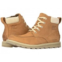 SOREL Madson Moc Toe Waterproof Camel Brown/Oatmeal Men's Lace Up Boots 8896264 RYLCXMI