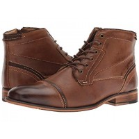 Steve Madden Jefries Dark Tan Men's Lace Up Boots 9087551 LTNGXUY