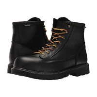 Wolverine Floorhand 2 Mid Steel Toe WP Black Men's Lace Up Boots 9048428 BYCFVNJ