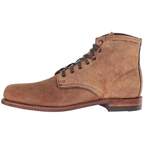 Wolverine Original 1000 Mile 6 Boot Brown Waxy Suede Men's Lace Up Boots 8814205 RMSXXBO