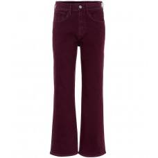 3x1 W4 Shelter high rise wide leg jeans Burgundy 98% cotton 2% elastane  P00322452 SNANNMM