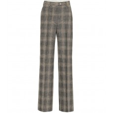 Acne Studios Checked wool and cotton pants brown/beige 80% wool 20% cotton  P00340198 KNUIGUQ