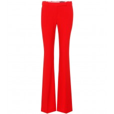 Alexander McQueen Flared crêpe trousers Lust Red 52% viscose 48% acetate  P00302845 WYYQELN